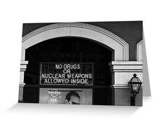 NO DRUGS Greeting Card