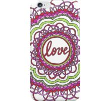 Zentangle Mandala Love Red & Green iPhone Case/Skin