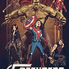 Wil Anderson's FOFENGERS (Fofop 200th episode poster) by James Fosdike