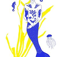 Tattooed Merman  by mirandaholms