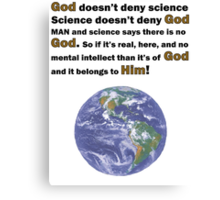 God and Science Canvas Print