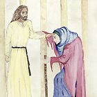 Jesus Heals the Crippled Woman on the Sabbath by Anne Gitto