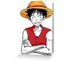 Luffy from One Piece Greeting Card