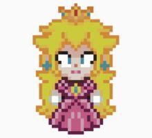 Princess Peach - Smash Bros Mini Pixel by geekmythology