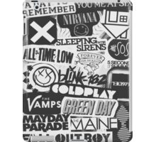 Bands Collage iPad Case/Skin