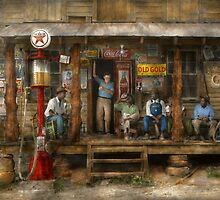 Gas Station - Sunday afternoon - 1939 by Mike  Savad