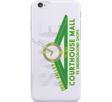 SAVE at the Hill Valley Courthouse Mall iPhone Case/Skin