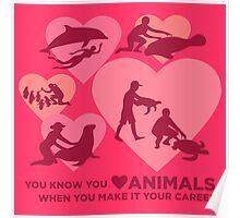 Love Animals - Marine Animal Career Poster