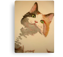 I'm All Ears: A Curious Calico Cat Portrait Canvas Print