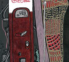 mummy case and coke machine by purplestgirl