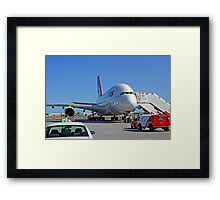 Parked A380  Framed Print