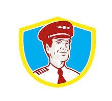 Aircraft Pilot Aviator Shield Retro by patrimonio