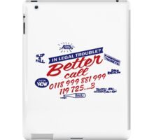 Better Call IT - Mashup! (0118 99...) Crowd Emergency number iPad Case/Skin