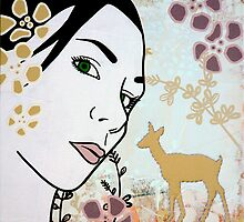 Doe A Deer I by Simone Maynard