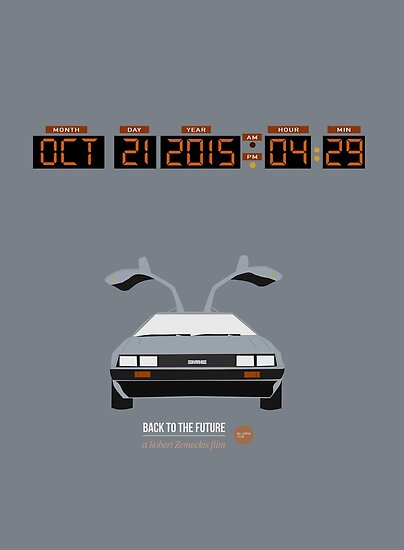 Back To The Future 'Roads' 2015 Edition - Grey by Hello I'm Nik