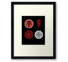 Legend Of Korra Villians Logo Framed Print