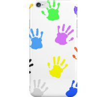 Colorful handprints iPhone Case/Skin