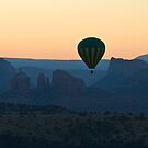Balloon over Cathedral Rock by Amy Dokken