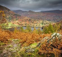Autumnal Views over Rydal Water. by Heidi Stewart