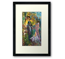 Lovers In The Wood Framed Print