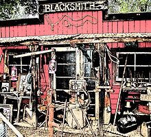 Stylized photo of an old blacksmith shop. by NaturaLight