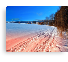 Hiking through a beautiful winter scenery | landscape photography Canvas Print