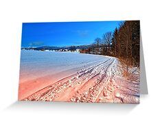 Hiking through a beautiful winter scenery | landscape photography Greeting Card