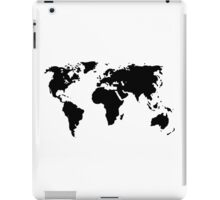 The world map on your chest or elsewhere . iPad Case/Skin