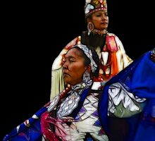 Pow Wow Dancers by Gene Praag