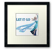 Frozen Let It Go Framed Print