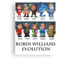 Robin Williams Evolution Canvas Print