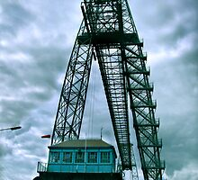 newport transporter bridge eastside by opiumfire