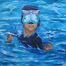 chris in pool no wall by Leanne Inwood
