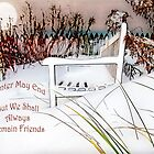 """A Throne of White """"Friends"""" ~ Greeting Card, Pillow, Tote, Mugs, etc. by Susan Werby"""