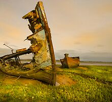 Old Fishing Boats Wrecks 3 by eddiej