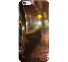 Cars in urban street on rainy night hasselblad medium format analog film photograph iPhone Case/Skin