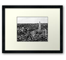 London Skyline Biro drawing Framed Print