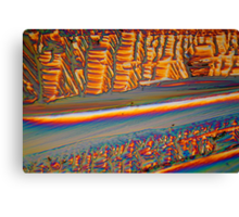 Rare Materials: Erbium nitrate under the microscope Canvas Print
