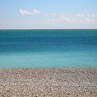 Clear blue sea by Fay  Hughes