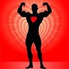 Valentine Bodybuilder by Anton Van Dort
