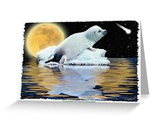 """""""The Celestial Child"""" (Harp Seal) Greeting Card"""