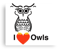 I Love Owls Canvas Print