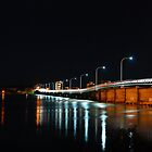 Forster Tuncurry Bridge at Night by sarahncraig