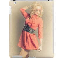Retro yellow portrait of a beauty pinup girl iPad Case/Skin