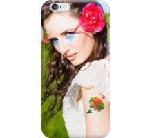 Woman Wearing Tattoo iPhone Case/Skin