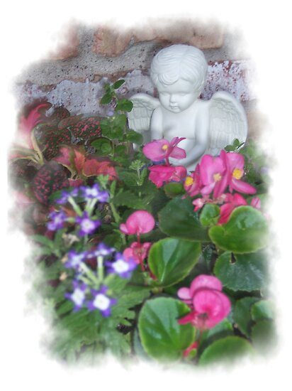 Cherub in flowerpot by Nanagahma