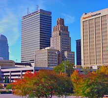Down Town Winston Salem by Robert Woods