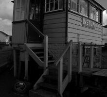 instow railway signal box by imageworld