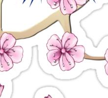 Cherry Blossoms and Mt. Fuji Sticker