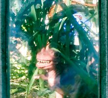 TTV T-Rex  in forest of Black Tuscan Kale by Faith Hunter